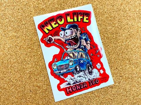 イラストステッカー『NEO LIFE』赤枠
