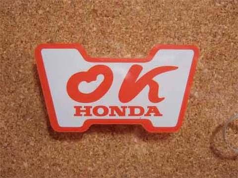 『OK』HONDAステッカー(赤)