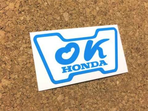 『OK』HONDAステッカー(青)外貼り