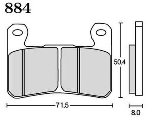 RK MAX 884 ブレーキパッド