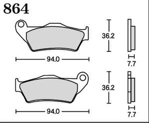 RK MAX 864 ブレーキパッド