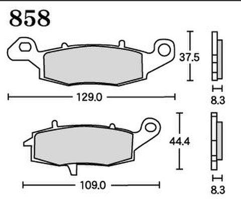 RK MAX 858 ブレーキパッド