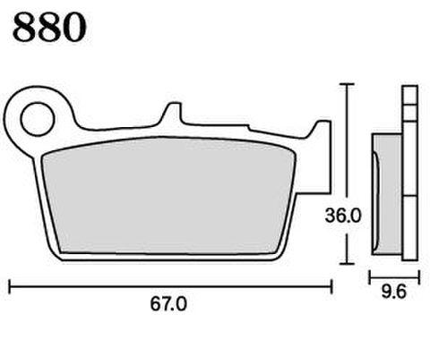 RK MAX 880 ブレーキパッド