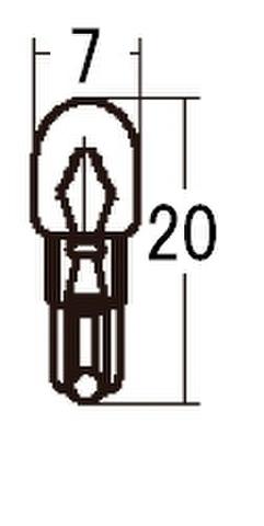 スタンレー WB371 12V3W T7 10ケ (1箱10ケ入)