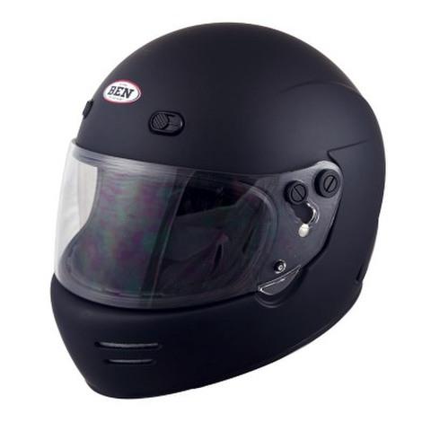 TNK B-70 ヴィンテージフルフェイスヘルメット MAD BK