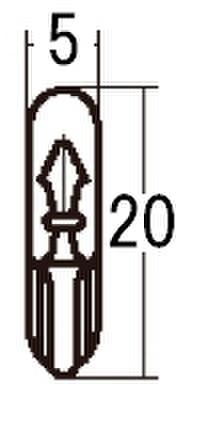 スタンレー WB358 12V2W T5 10ケ (1箱10ケ入)