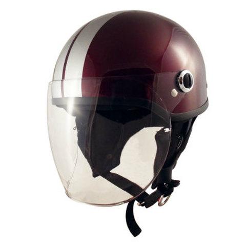 TNK SQ-32 ヘルメット マルーン/シルバー FREE(58-59cm)