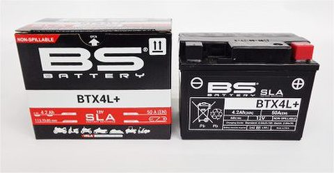 BSバッテリー BTX4L+ (液入り充電済み)
