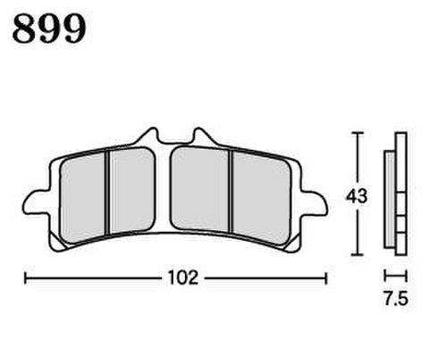 RK MAX 899 ブレーキパッド
