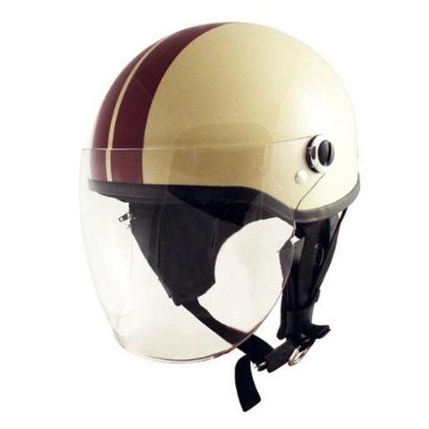 TNK SQ-32 ヘルメット アイボリー/ブラウン FREE(58-59cm)