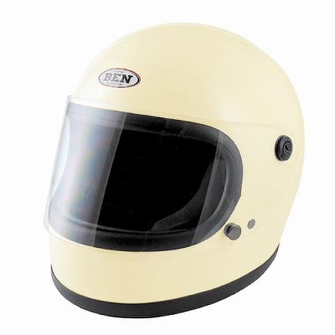 TNK B60 ヴィンテージフルフェイスヘルメット アイボリー