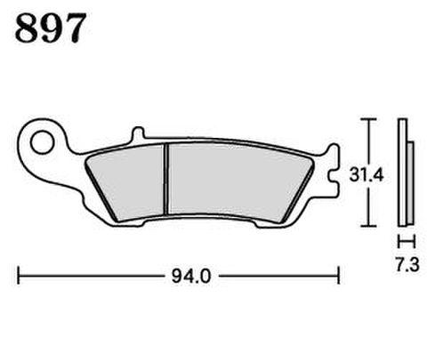 RK MAX 897 ブレーキパッド
