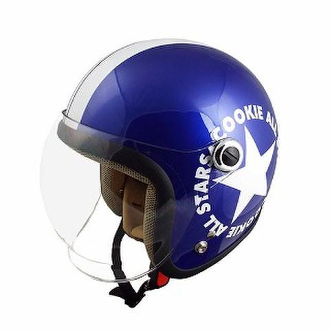 TNK CA-6 ヘルメット メタリックブルー/ホワイト KIDS(54-56cm)
