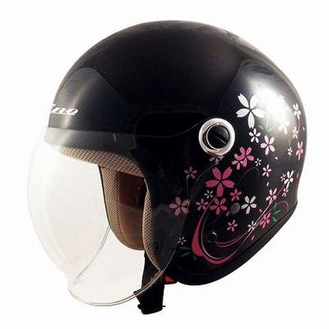 TNK GS-6 ヘルメット SAKURA BK  LADY'S FREE(57-58cm未満)