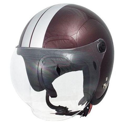 TNK JLT ジェットヘルメット RED.B/SI FREE(58-59cm)