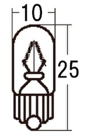 スタンレー WB125 12V3.4W T10 10ケ (1箱10ケ入)