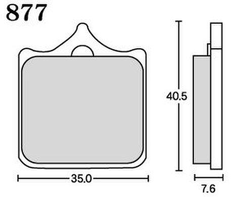 RK MAX 877 ブレーキパッド