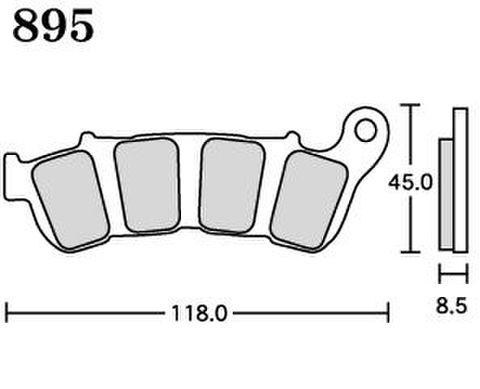 RK MAX 895 ブレーキパッド