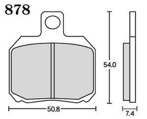 RK MAX 878 ブレーキパッド