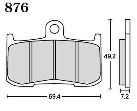RK MAX 876 ブレーキパッド