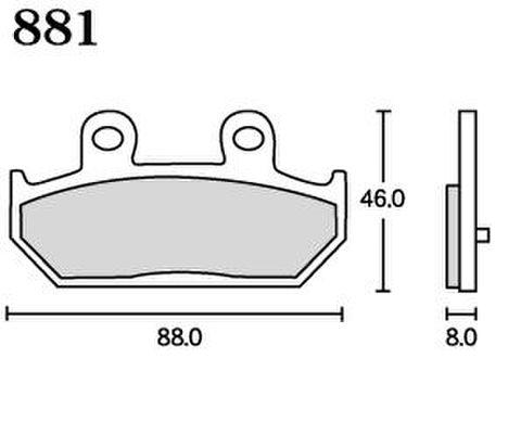 RK MAX 881 ブレーキパッド