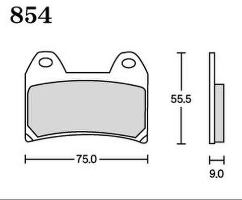 RK MAX 854 ブレーキパッド