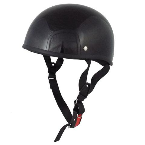 TNK TS-29B ダックテールヘルメット BLACK ビッグサイズ(60-62cm未満)