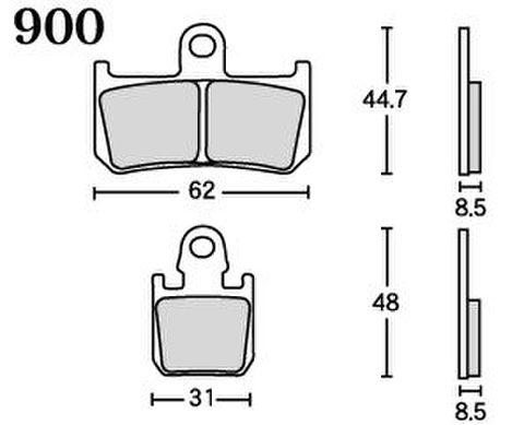 RK MAX 900 ブレーキパッド