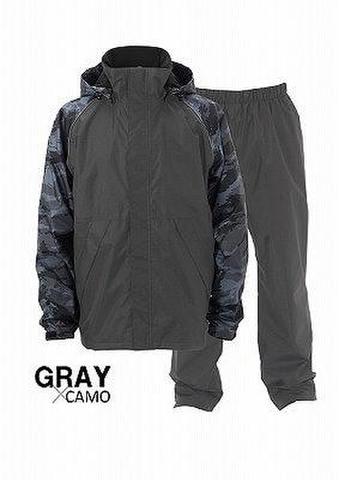 ヒラノ産業 防水防寒スーツNo.06142 イージーアクト2 カモフラ/グレー LL