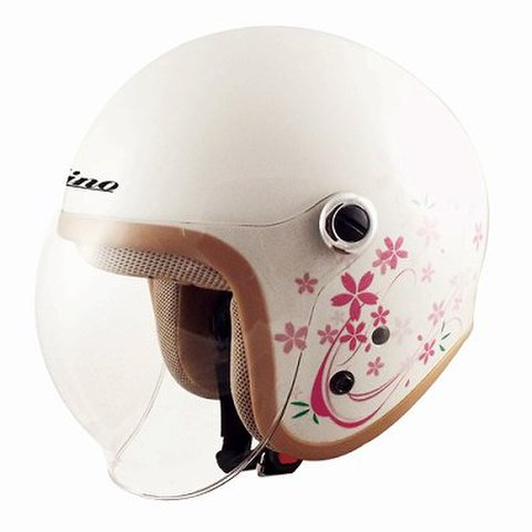 TNK GS-6 ヘルメット SAKURA WH  LADY'S FREE(57-58cm未満)