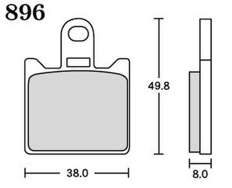 RK MAX 896 ブレーキパッド