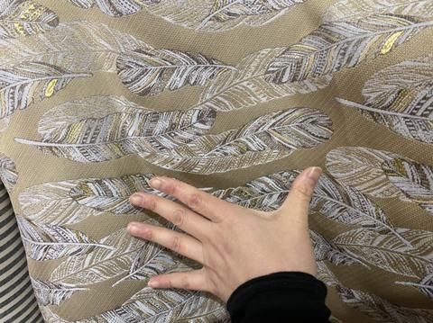 ゴブラン生地 金羽140センチ幅50センチ