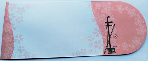 封筒*二胡×花柄