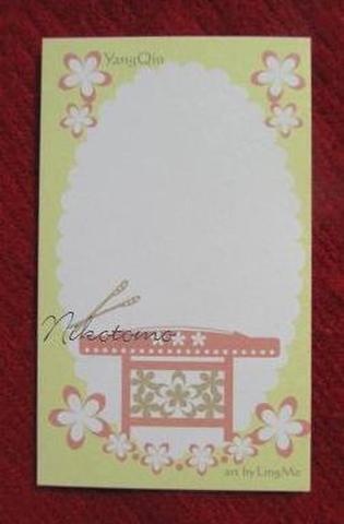 第二弾 メッセージカード*楊琴 花柄