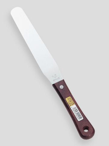 No.425 ステンレス製 スパチュラ 180mm(木柄)