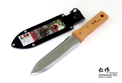 No.650 ステンレス製 レジャーナイフ 波刃型