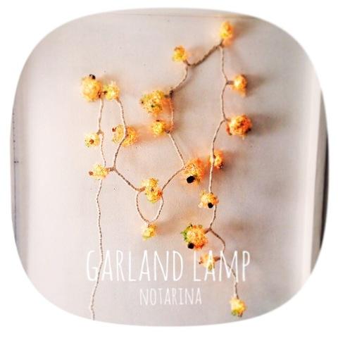 Flower garland lamp