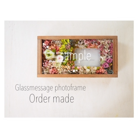 Glassmessage photoframe         -Order made-