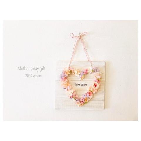 Heart flower board (pink)