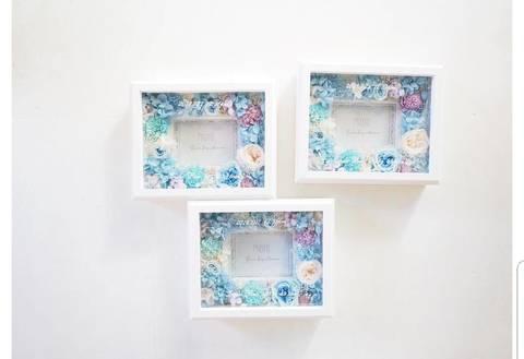 photo frame(1枚入) ガラス張り お花多め