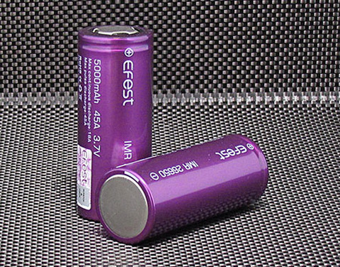 efest Purple IMR 26650 5000mAh High Drain 45A Battery Flat top