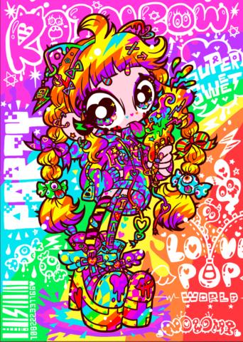 ポストカード★RAINBOW PARTY