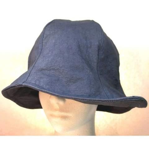 ダウン帽子 ・ターコイズブルー