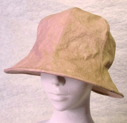 和紙チューリップ帽子 ・ベージュ