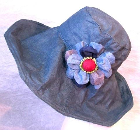 柿渋染め和紙 帽子