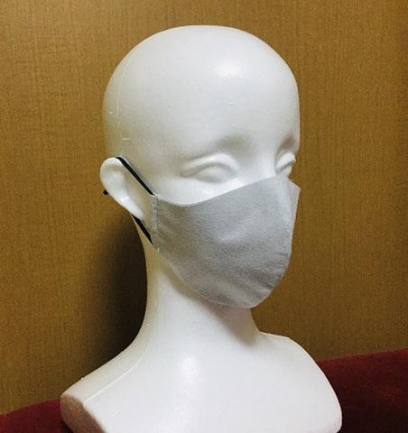 戦う備長炭マスク ★備長炭遠赤外線放射マスク 耳部ゴム使用(2枚入り) 手洗いOK(在庫あり)