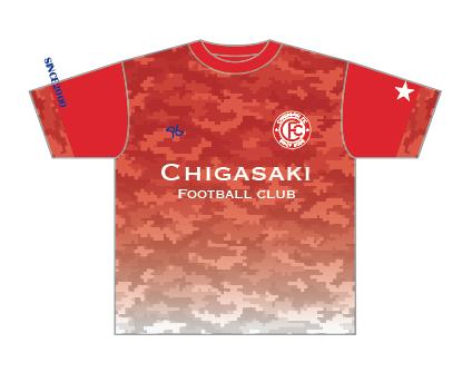 茅ヶ崎F.C プラクティスシャツ