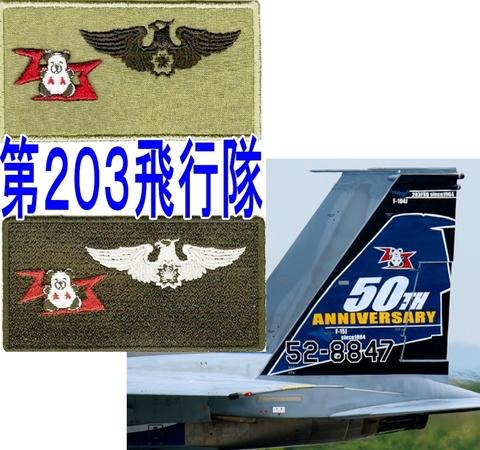 千歳基地 第203飛行隊 ネ-ムタグパッチ