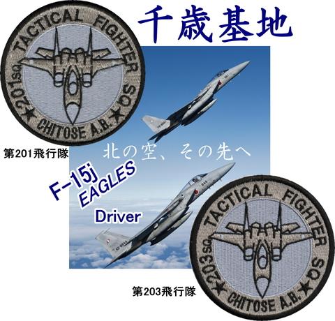千歳基地第201・203飛行隊F-15イーグルドライバーロービジパッチ