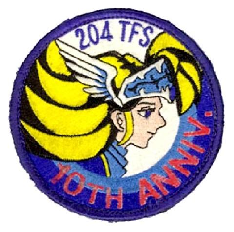 那覇基地 第204飛行隊ミスティックイーグルF-15改変10周年記念パッチ